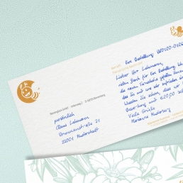 handwritten Notecards with window envelope by PENSAKI