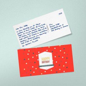 handwritten happy birthday cards postcards by PENSAKI