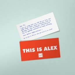 Handwriting Style ALEX PENSAKI Robot Handwritten