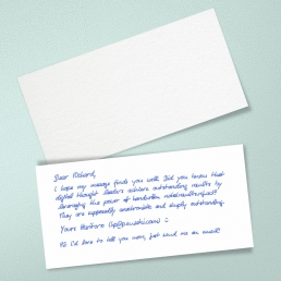 handwritten cards by PENSAKI Premium 400