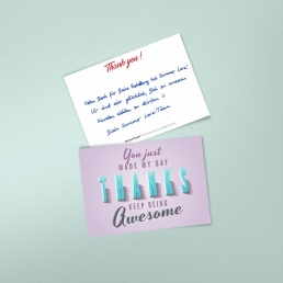 personalized thank you cards by PENSAKI