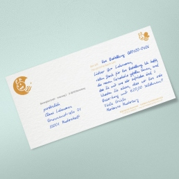 handwritten Notecards for window envelopes