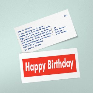 Handwritten happy birthday cards are more important than ever
