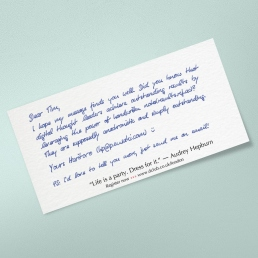 handwritten thank you cards