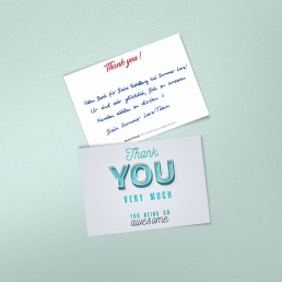 handwritten thank you notes by PENSAKI
