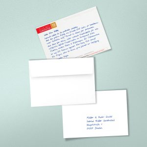 handwritten invitation that convert by PENSAKI