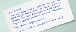 handwritten lead generation marketing letter by PENSAKI