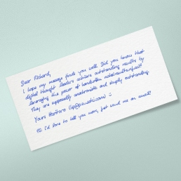 handwritten lead generation marketing letter by PENSAKI