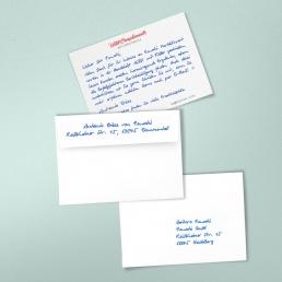 B6 Handgeschriebene Dankeskarte ALEX 2-seitig