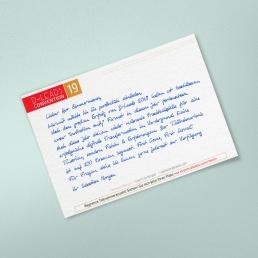 B6 Handgeschriebene Einladung ALEX