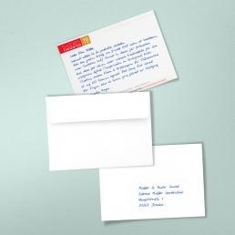 B6 Handgeschriebene Einladungen und Kuverts