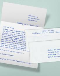 Handgeschriebener A4 Brief 1.000 Zeichen Kuvert2S