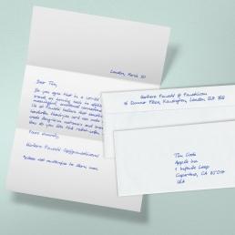 Handgeschriebener A4 Brief 650 Zeichen Kuvert2S