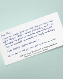DIN Lang Karte in Handschrift ALEX