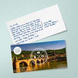 Handgeschriebene Postkarte von PENSAKI