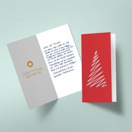 Din Lang Weihnachtskarte in Handschrift