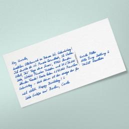 Postkarte in Handschrift DIN Lang