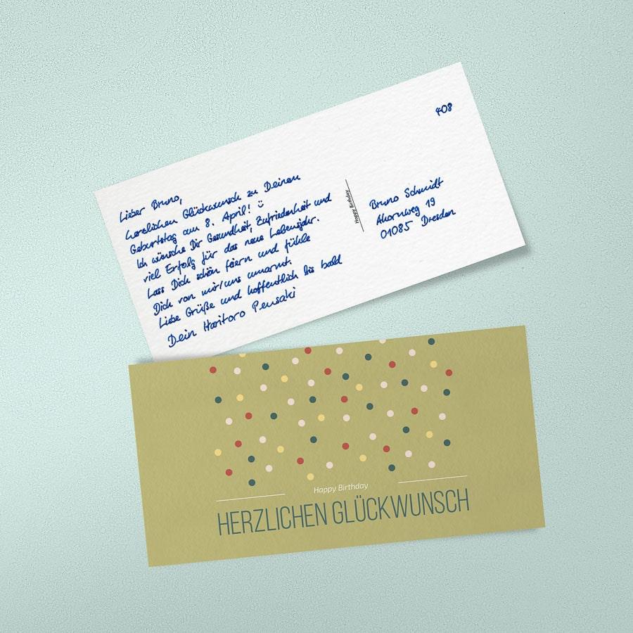 Karte schreiben geburtstag Geburtstagswünsche •