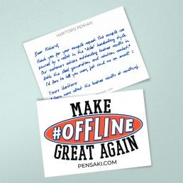 Handschriftliche Dankeskarten begeistern Ihre Kunden
