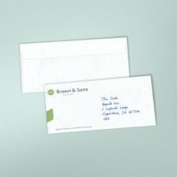 Handschriftliches Kuvert1S mit gedruckten Kuverts
