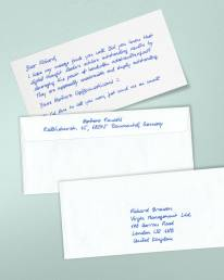 handschriftliche Karten DIN Lang 400 ALEX mit Lamy Füller