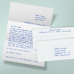 Handgeschriebener Brief A4 1000 Zeichen PENSAKI 01