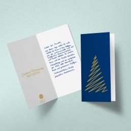 Geschäftliche Weihnachtskarten in Handschrift