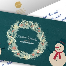 Handgeschriebene Weihnachtskarten online bestellen