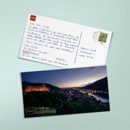 Handgschriebene Postkarte Maxi-Format 235 x 125