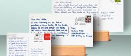 Handgschriebene Postkarten A6, DIN Lang und Maxi