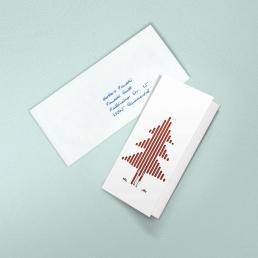 Weihnachtskarte Weiss PENSAKI 2020