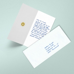 handwritten christmas cards BLUE by PENSAKI