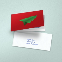 handwritten christmas cards RED by PENSAKI
