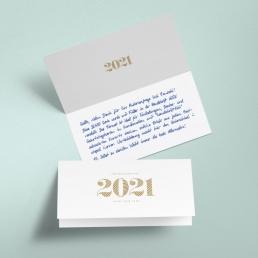 Handschriftliche Neujahrskarten 2021 GOLD