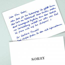 robot handwritten sorry notes by PENSAKI