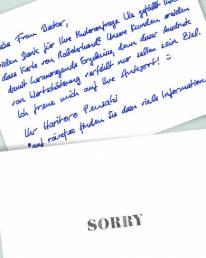 handwritten sorry notes