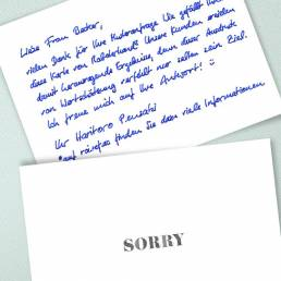 handwritten sorry notes