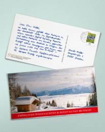 Weihnachtskarte in Handschrift als Din Lang Postkarte - Alex
