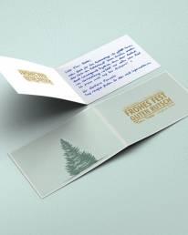 handgeschriebene Weihnachtskarte DIN A6 von Roboterhand