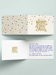 Neujahrskarten in Handschrift von Roboterhand