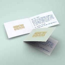 Weihnachtskarte Design mit handgeschriebenem Text