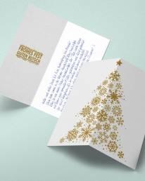 Weihnachtskarte mit handgeschriebenem Text Riley